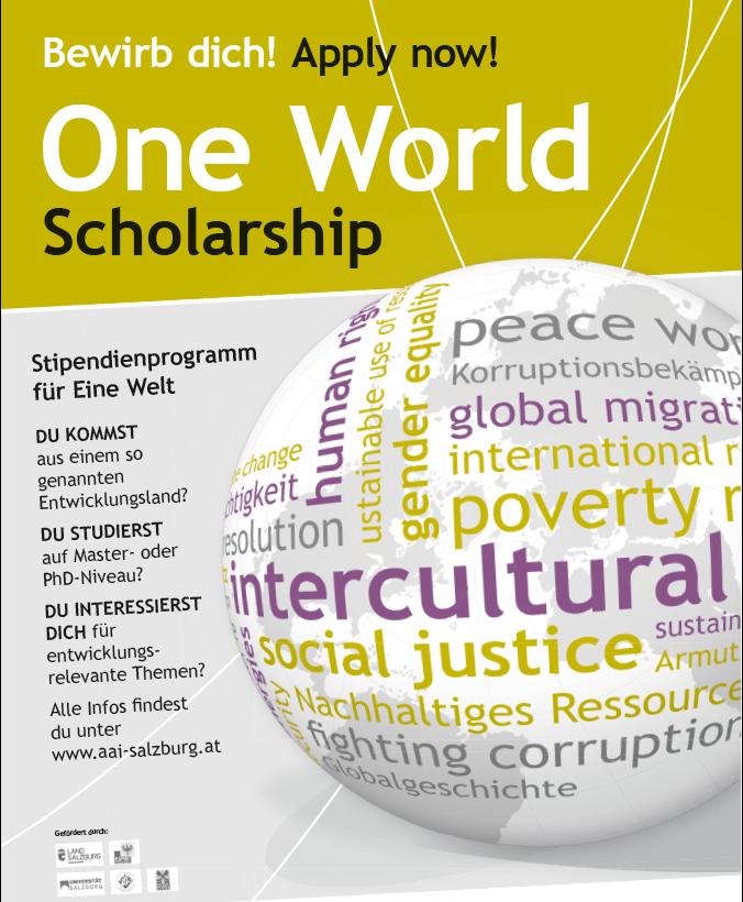 AAI Stipendium für Eine Welt