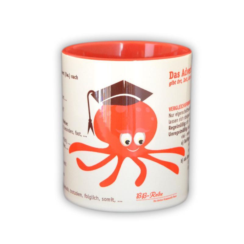 Das Adverb: Lernen  mit dem wissbegierigen Oktopus