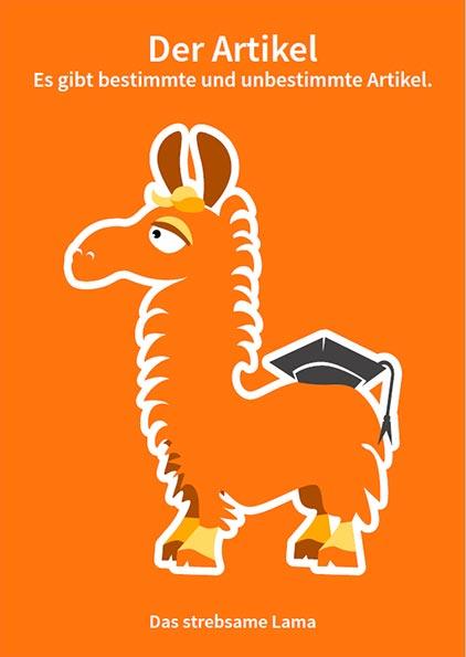 Das strebsame Lama - Artikel