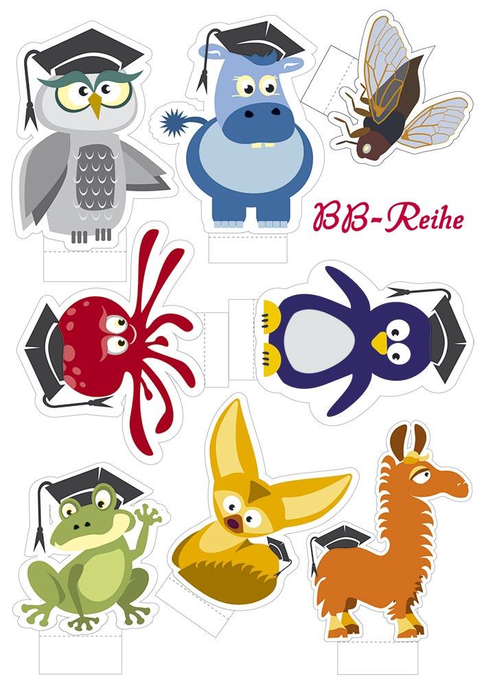 Spielfiguren Set: 10 tierische Schlaumeier